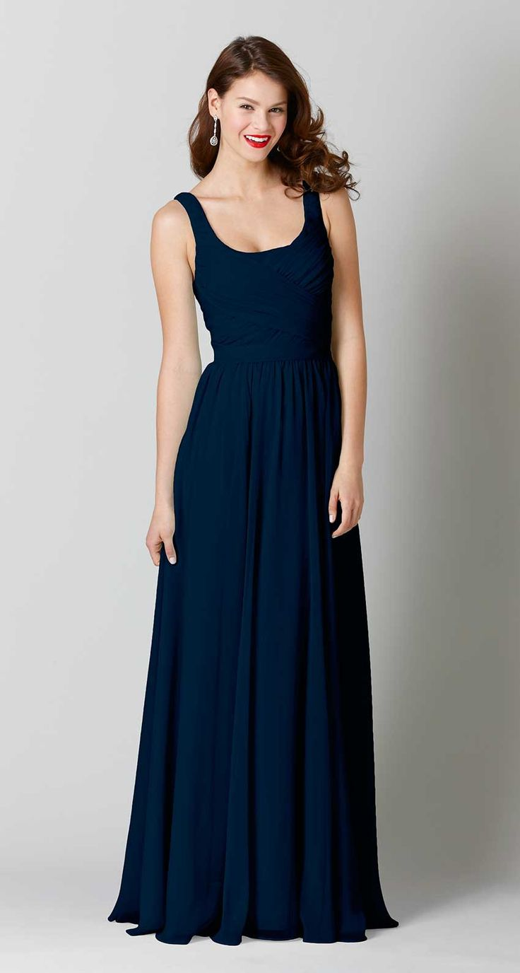 87 best blue bridesmaid dresses images on pinterest blue dresses sophia chiffon bridesmaid dress in navy blue ombrellifo Images