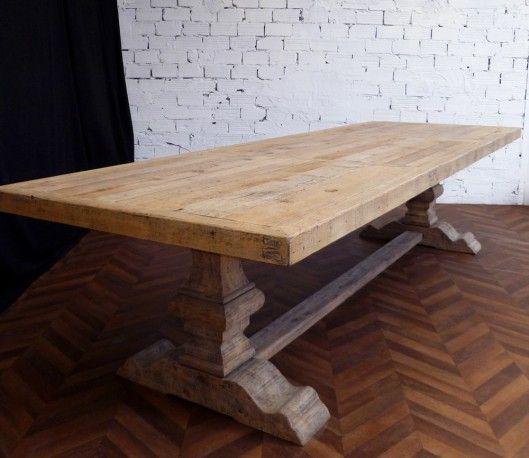 Les 25 meilleures id es de la cat gorie table de ferme sur pinterest table de style maison de - Relooker une table en bois massif ...