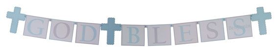 Cross Banner for Boys Baptism in your Choice of Colors - Baptism Decorations, Communion Banners, Christening Party Supplies by SetToCelebrate #crossbanner