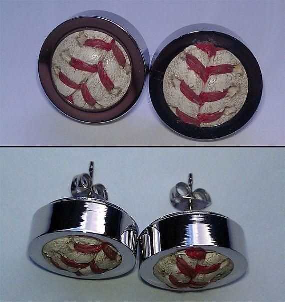 baseball earrings!