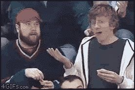 16 GIFs of the Most Hilarious Kiss Cam Goofs Ever from GifGuide... I didn't even go to the site, this GIF alone was worth the pin!