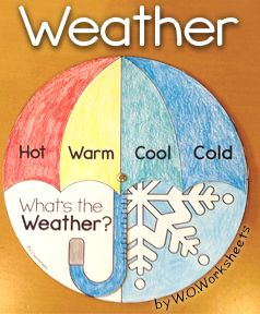 Fun little weather craft for Kindergarten or first grade. The pack also include weather graphing and weather worksheets.