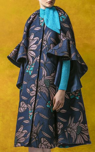 DELPOZO Oversized Jacquard Coat $3,200