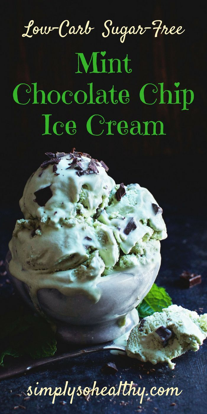 This Low-Carb Mint Chocolate Chip Ice Cream boasts creamy minty goodness, but can still be a part of low-carb, Atkins, diabetic, LC/HF, gluten-free, and Banting diets.