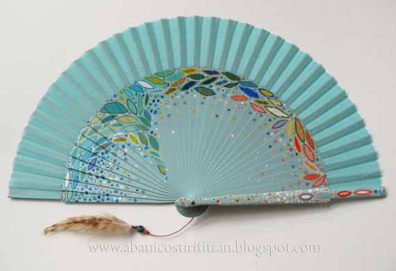 """Hand Painted Fans From Spain 