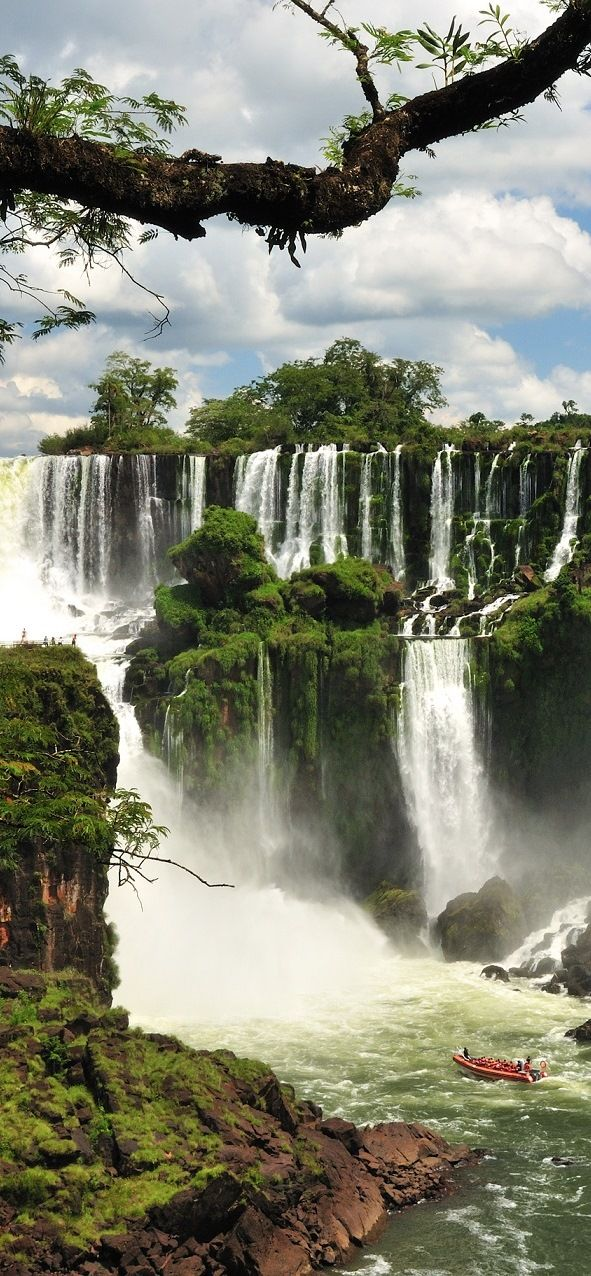 Iguazu Falls on the border of the Argentina province of Misiones and the Brazilian state of Paraná