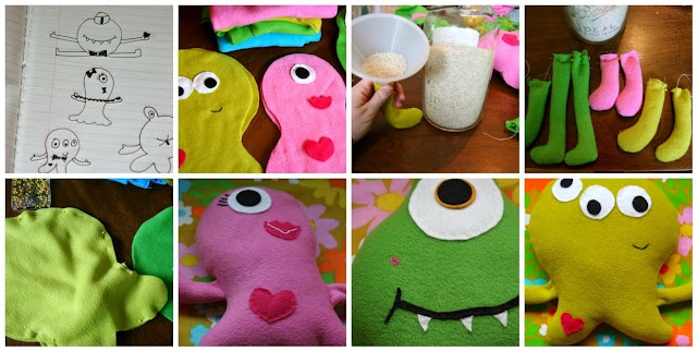 Cute: Rice Pillows, Crafts Ideas, Felt Monsters, Kids Stuff, Gifts Ideas, Baby Ideas, Boys Stuff, Pillows Monsters, General Crafts