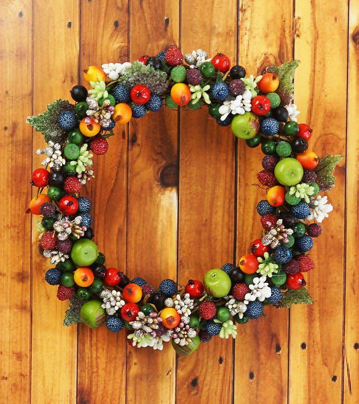 ◇木の実がいっぱいリースアレンジ | プリザーブドフラワー花材の通販ならアミファ