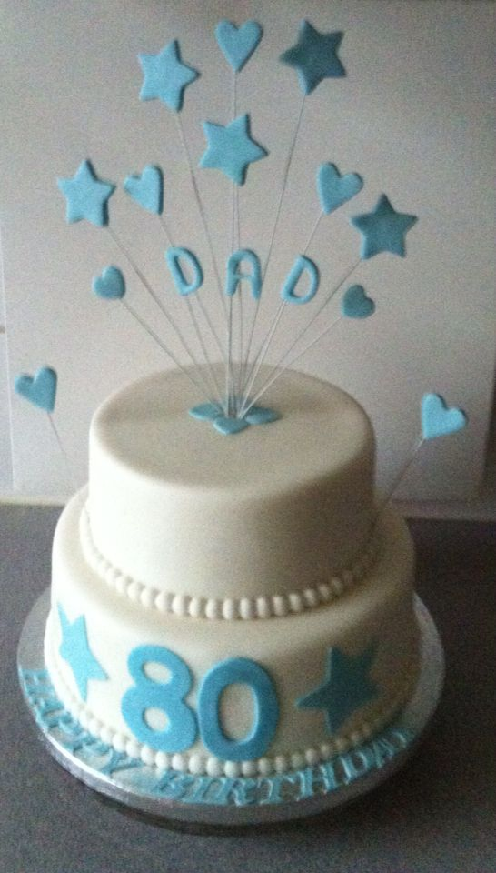 80th Birthday Cake Dad
