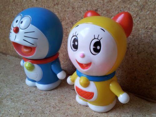 Japan-Vintage-Ninohe-DORAEMON-DORAMI-Squeeze-Toys-Soft-Vinyl