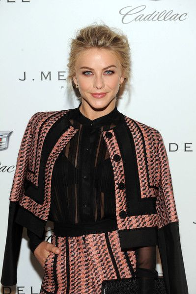 Julianne Hough backstage at the J. Mendel fashion show during Spring 2016 New York Fashion Week on September 17, 2015 in New York City.