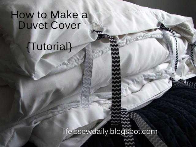 Life is {Sew} Daily: Easy Duvet Cover {Tutorial}