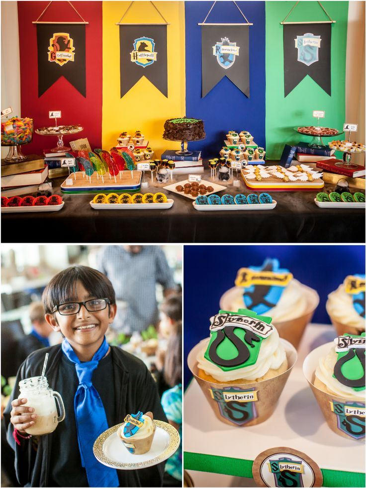Harry Potter inspired birthday party ideas with DIY decorations, food, party games and activities for the kids favors and printables!