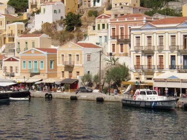 Haven van Rhodos Griekenland