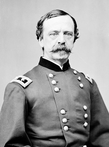 Maj. Gen. Daniel Sickles - Colorful and controversial American politician and political general of the Civil War. Prior to the war, killed his wife's lover a relative of Francis Scott Key - acquitted with the first use of temporary insanity as a legal defense in U.S. history. Lost his leg at the Battle of Gettysburg.