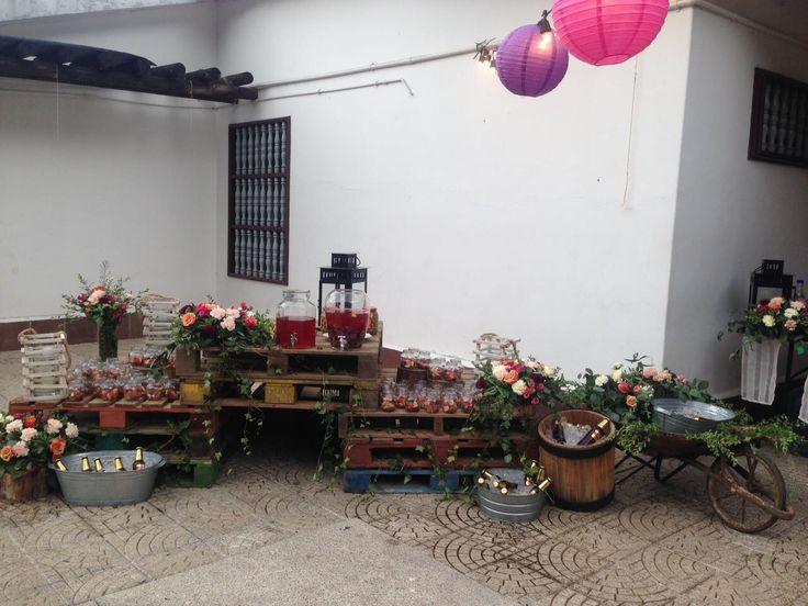 mesa de bebiddas