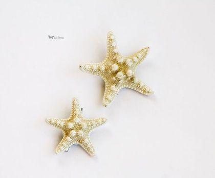 Заколки ручной работы. Ярмарка Мастеров - ручная работа Заколки с морской звездой. Handmade.