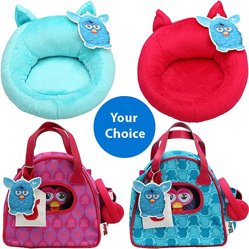 FURBY Sling Bag and Chair Bundle - Customer Pick Two. Comes with Two Furby Accessories: FURBY Bowling Bag (Choose Pink or Blue) FURBY Chair (Choose Pink or Blue). Price: $25.94