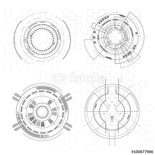 vector  futuristic interface elements