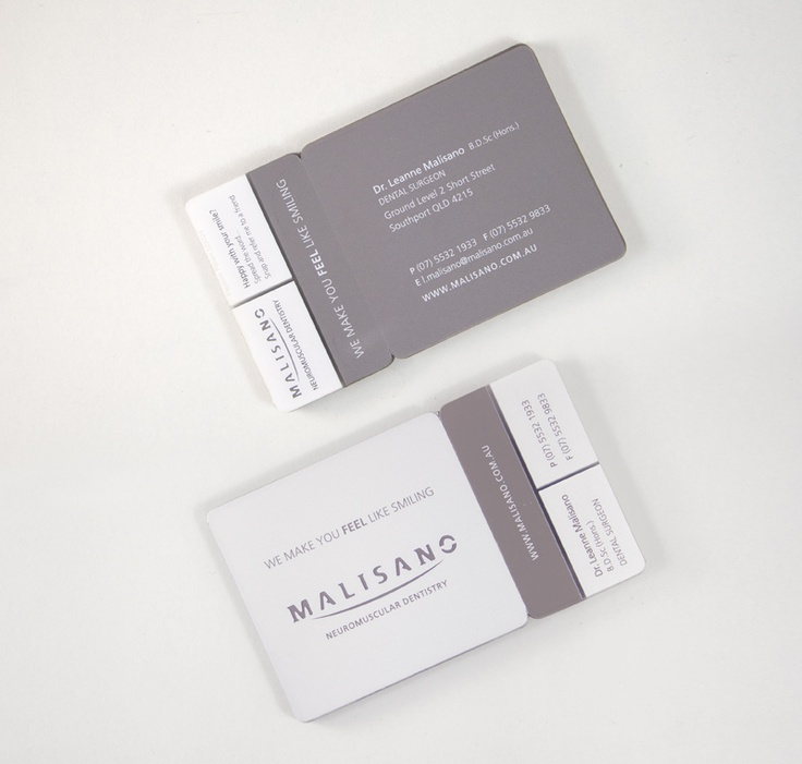 8 best dental referral program images on pinterest business cards malisano dental logo design brand identity plastic snap referral business card colourmoves Images