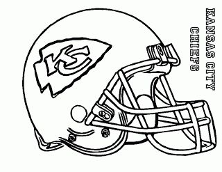 Chiefs Amp Royals Coloring Pages Football Coloring Pages