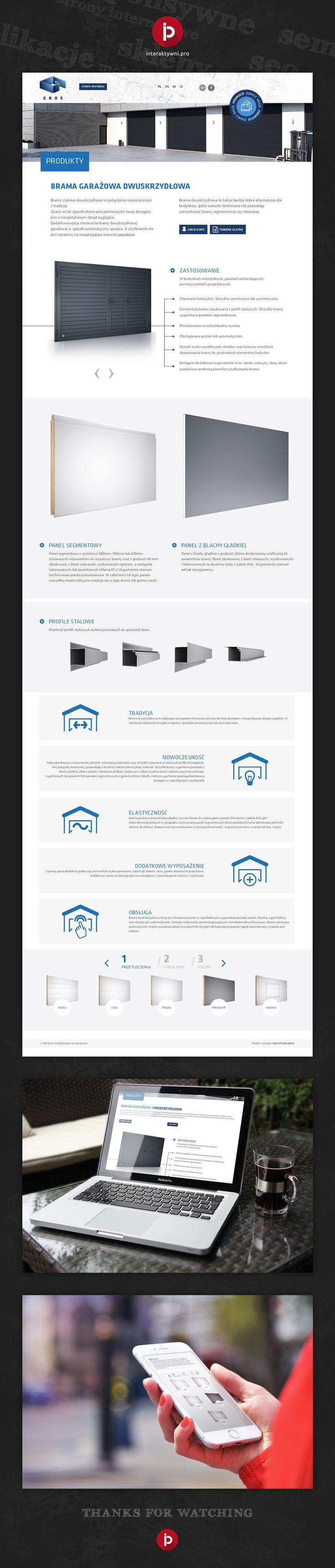 Efekt długoletniej współpracy z firmą Gros - producentem bram garażowych i przemysłowych - to nowa, minimalistyczna, responsywna strona internetowa. Zachęcamy do odwiedzin. //  The effect of long-term cooperation with company Gros - a manufacturer of garage doors and industrial - is a new, minimalist, responsive website. We encourage You to visit. #webdesign #responsywnastronainternetowa 3agencjainteraktywna #interaktywni