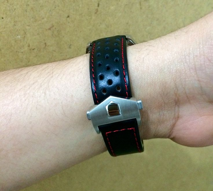 Steel deployment clasp for Tag Heur Carrera arrived today from www.watchstrapworld.com #watchstrap #calibre1887