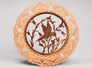 Kıl Testere Sanatı: Kuş Desenli Duvar Süsü