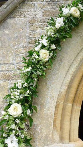 Wedding Flowers Outside Ocrhad Leigh church