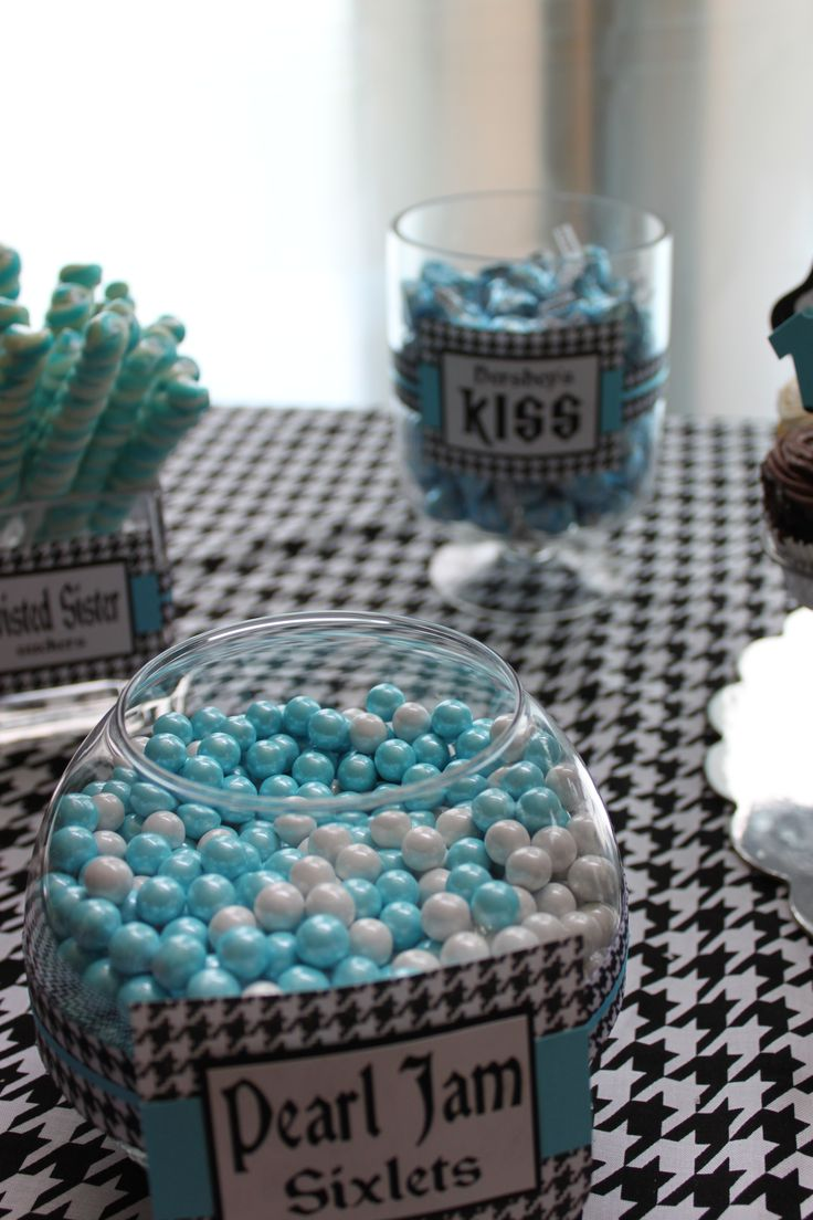 Rock-A-Bye Baby Shower candy with rock names