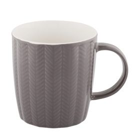 Herringbone Mug - Charcoal