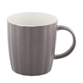 Herringbone Mug - Charcoal