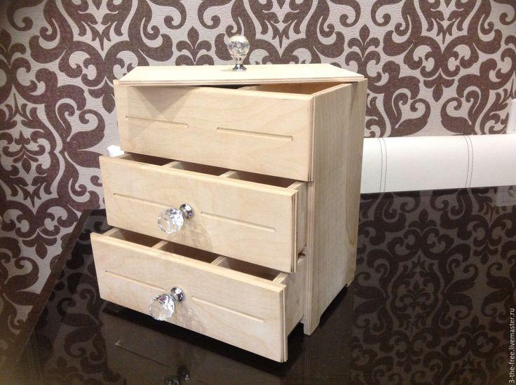 Купить Заготовка Комод с выдвижными ящиками - комод декупаж, заготовки для творчества, мини-комод