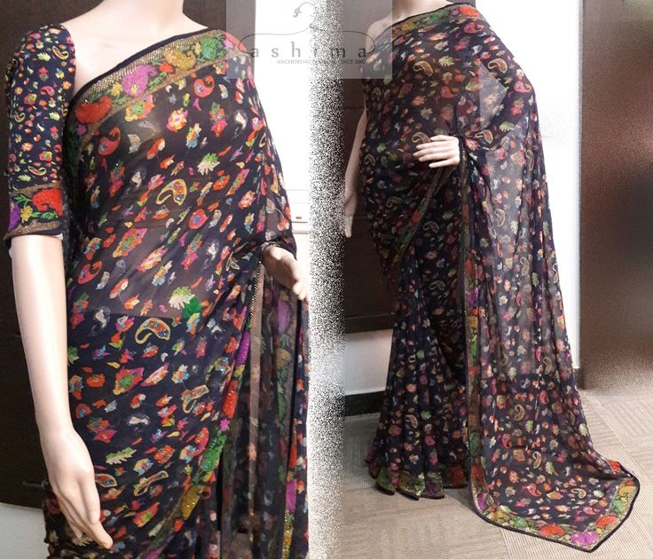 Code:3108171 - Price INR:16900/- , Pure Georgette Saree.