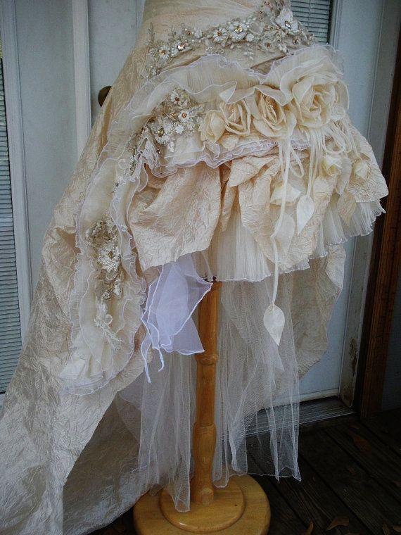 RESERVED for Jen  Handmade Wedding Dress Mini Plus by Arabescque, $819.99