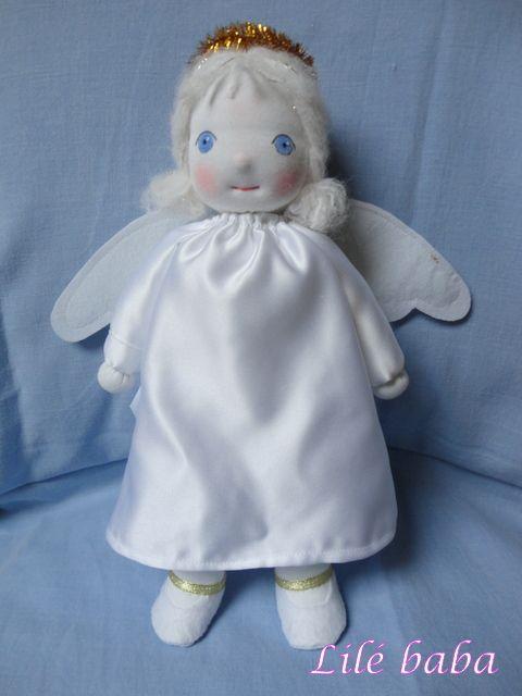 Hópihe,angyalka textilbaba   Lilé baba - textilbaba és játék webáruház