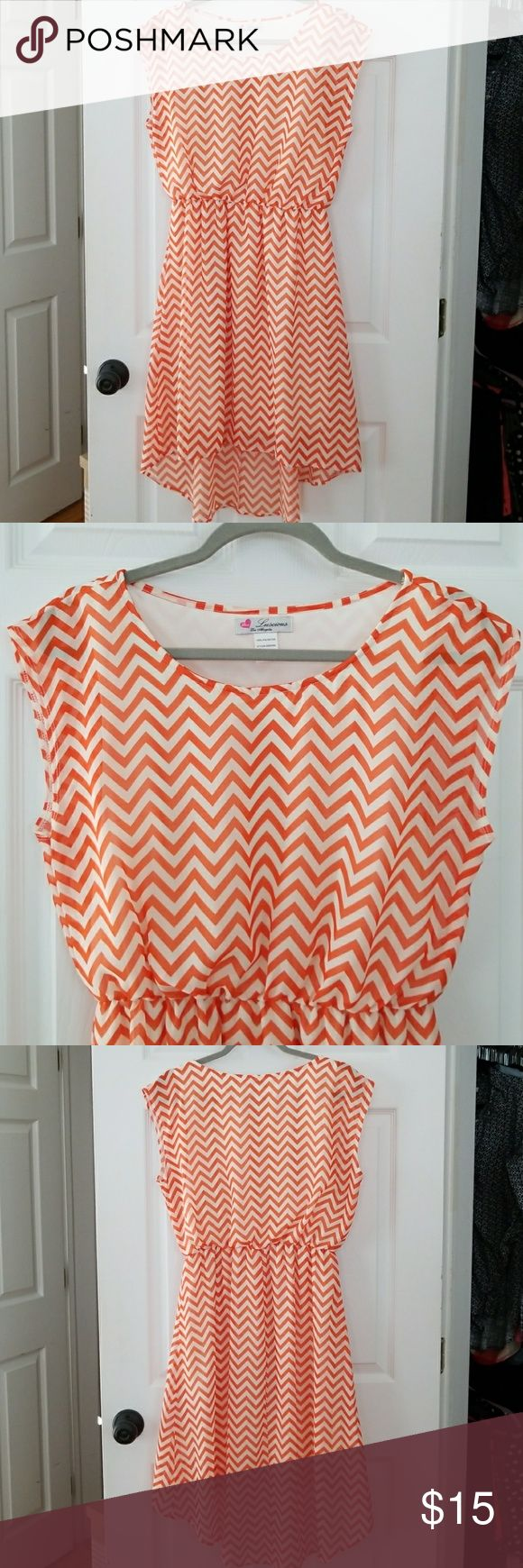 I just added this listing on Poshmark: Orange chevron dress. #shopmycloset #poshmark #fashion #shopping #style #forsale #Luscious #Dresses & Skirts