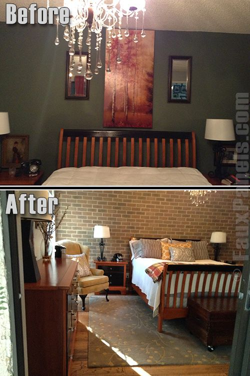 37 best images about design ideas bedroom on pinterest for Brick accent wall bedroom