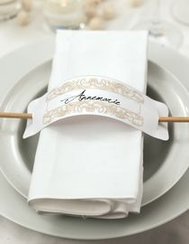 Simpler Serviettenring - weddingstyle.de