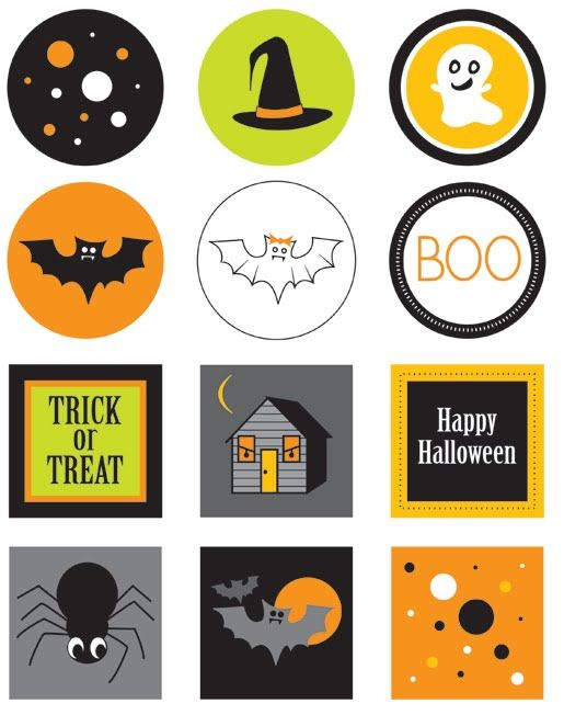 Paper Squid ❤ b l o g: Free Halloween Printable - Cupcake Toppers!
