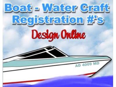 Boat Water Craft Registration Numbers ID Watercraft Vessel EASY - Custom vinyl decals design online