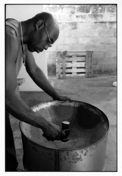 The makings of a steel pan! Trinidad and Tobago - Trinidadism Island in the Sun & The Home Of Pan - Gary Trotman @Steelasophical UK Steel Band http://www.steelband.co.uk/west-indies