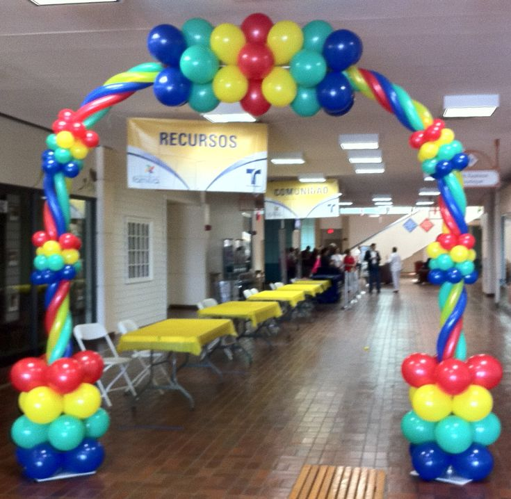 84 best images about balloon decoration on pinterest for Balloon arch decoration ideas