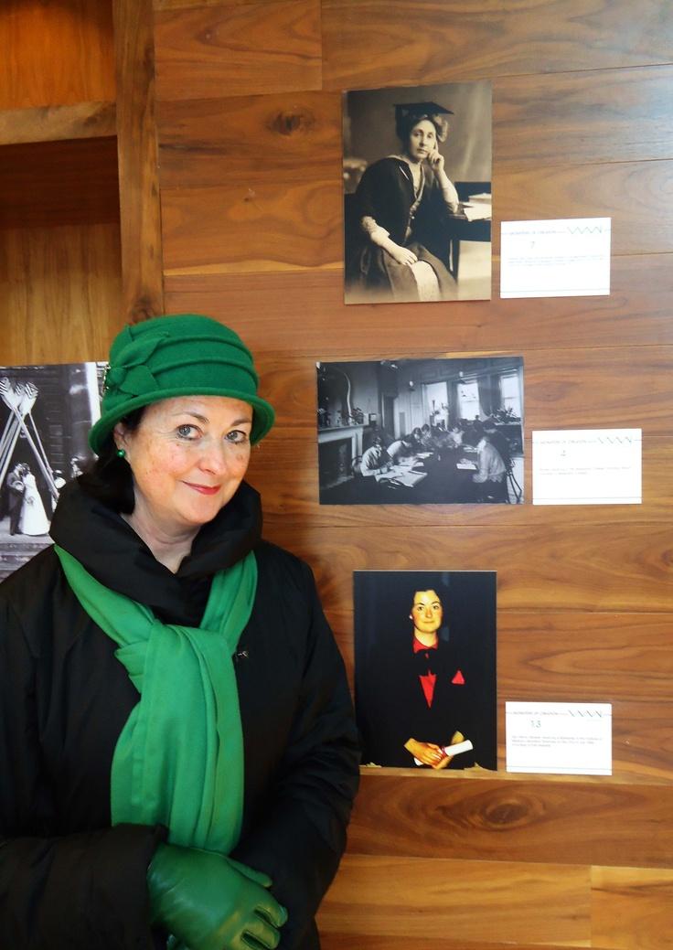 Geraldine Hassett and her photo (bottom)