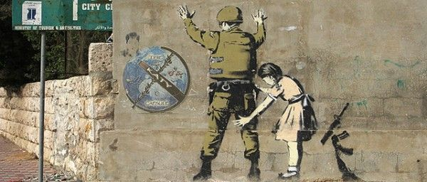 Banksy mural on Israeli separation wall