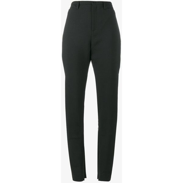 Balenciaga slim tailored trousers (£635) ❤ liked on Polyvore featuring pants, tailored fit pants, slim trousers, slim fit pants, slim fit trousers and balenciaga