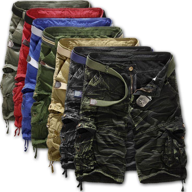 Men shorts masculino Camouflage Cargo Military Shorts Men Outdoor Cotton Loose Running Shorts Men Army Short