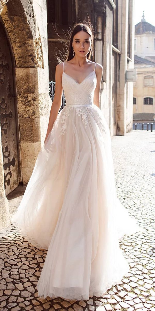39 Latest Wedding Dresses 2019 Spaghetti Strap Wedding