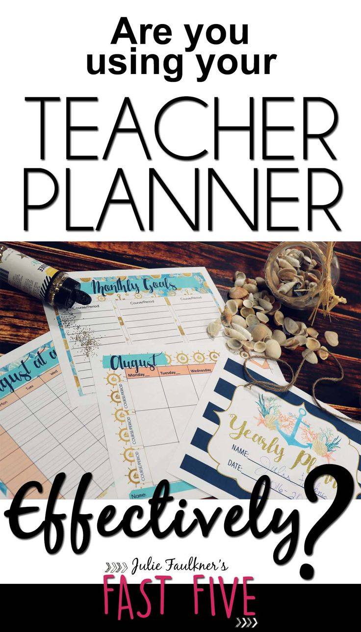Are you using your teacher planner effectively? Secondary, Middle and high school teacher calendar, planning