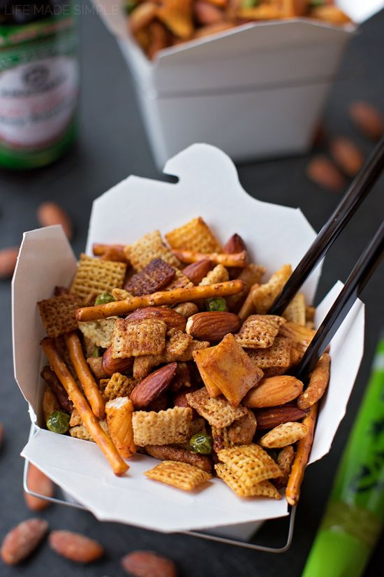 This sweet & spicy Asian snack mix is bursting with flavor! It's easy to make & even easier to devour! #ad